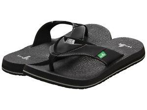 Man Sanuk Beer Cozy Flip Flop Sandal SMS2839 Black 100% Original Brand New