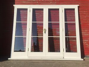 Hardwood Wooden French Doors with sidelights! Glazed! Made to ...