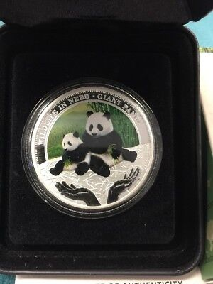 "2011 Australia 1 oz Silver Proof Giant Panda /""Wildlife In Need/"" Coin"