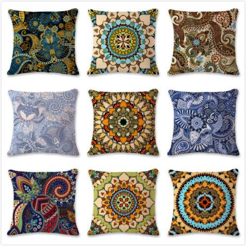 Indian Ethnic Mandala Style Pillow Cover Throw Waist Cushion Cover Home Decor