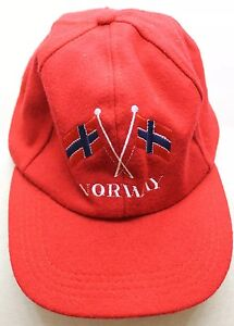 5fd4a9779b8 Image is loading Norway-Flag-Red-Wool-Truckers-Cap-Men-One-