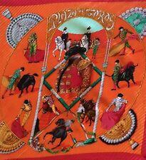 Authentic Hermes*Pleated Silk Women's/Ladies Scarf (Red,Orange,Gold,Green,Black)