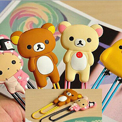 Cute Cartoon Animals Paper Clips Note Bookmarks Office Paperclip School Supply