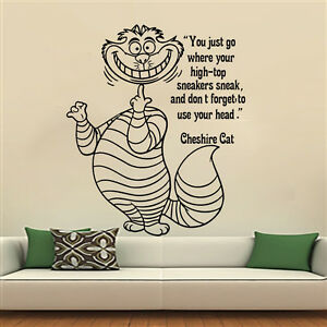 Elegant Image Is Loading Cheshire Cat Wall Decals Quote Sticker Alice In