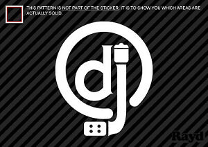 Details about (2x) dj Sticker Die Cut Decal logo turntables ministry