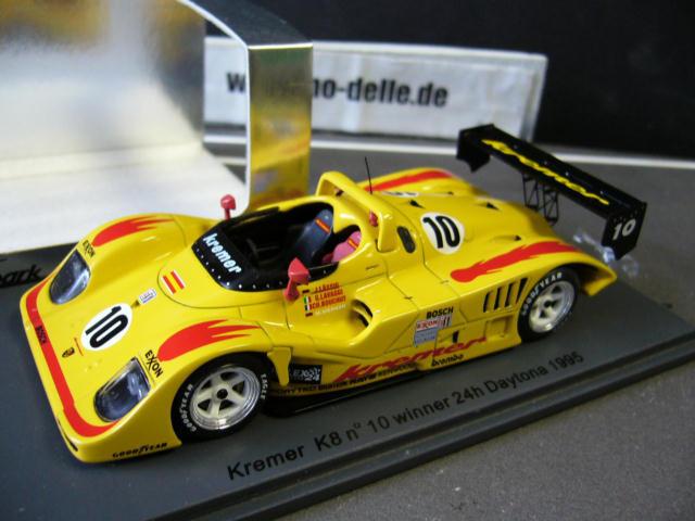 PORSCHE Kremer K8  10 Daytona Winner 1995 Lässig Werner Werner Werner Bouchut Spark Res 1 43 420768