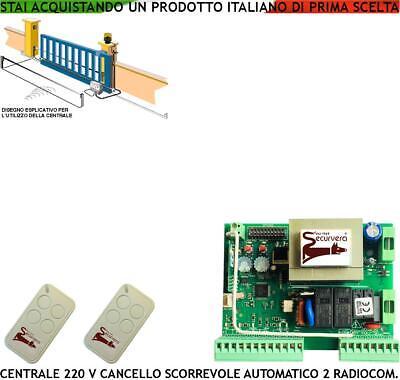 Scheda Comando Cancello Scorrevole Motore Came 220 V 550 W Centrale 2 Radiocoman Ebay