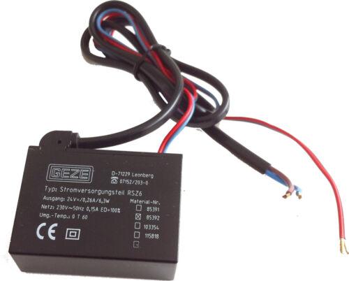 GEZE Stromversorgung Netzteil RSZ 6 Nr 85392 NEU  #50