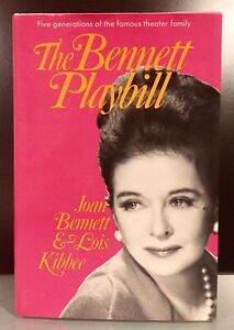 The-Bennett-Playbill-SIGNED-by-Actress-JOAN-BENNETT-Memoirs