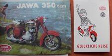 JAWA 350CCM 1961 PROSPEKT & EINFAHRHINWEISE CZ MOTOKOV