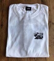STUSSY GIZA T-Shirt. Colour: WHITE. Size: XL. WORN ONCE