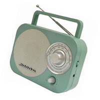 Portable Am/fm Radio In Teal