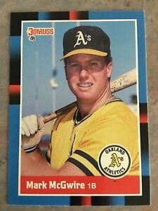 Details About 1988 Donruss Baseball Card 256 Mark Mcgwire Oakland Athletics Nmmt