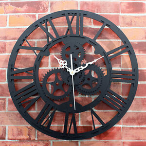 Retro-Gear-Wall-Clock-European-Antique-Roman-Clocks-Home-Decor-Watch-XMAS-Gifts