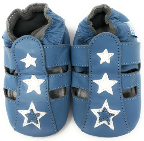 SLIPPERS 0-6,6-12,12-18,18-24 MTHS /& 2-3 YRS MINIFEET SOFT LEATHER BABY SHOES