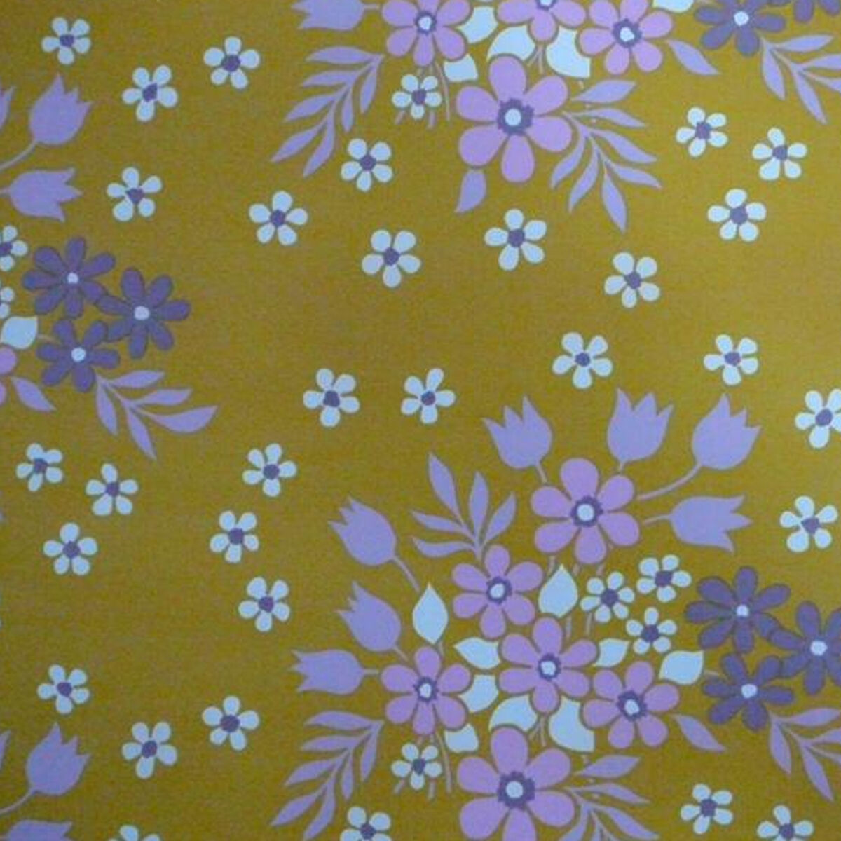 1970s Original Vintage Floral Wallpaper in FAB 70S FarbeS