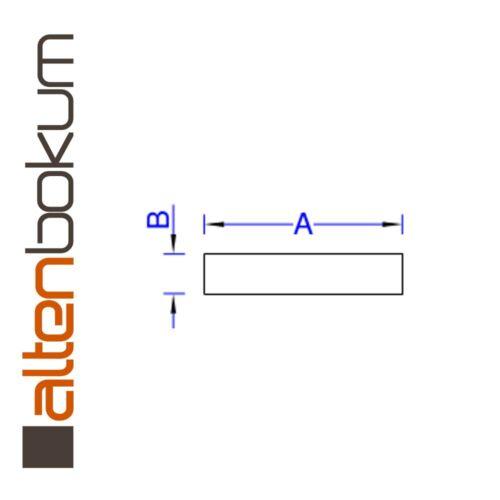Alu-Flach 60x8 1000mm Aluminium-Flachmaterial Alu-Stab Flachstab Flachstange