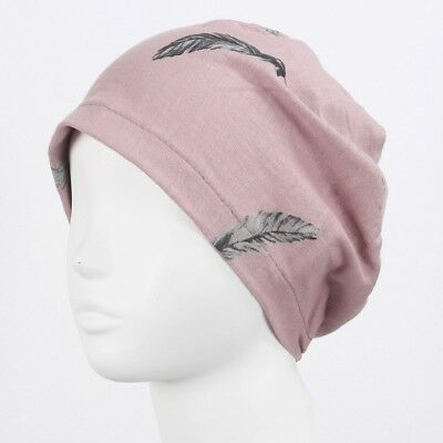 Women Sleep Beanie Cap Skull Headwear Neck Warmer Cancer Hat for Chemo Hair Loss