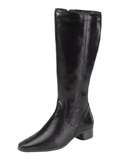 Bottes cuir snakemuster Tige large 22 cm jjfw taille 40 (6,5)