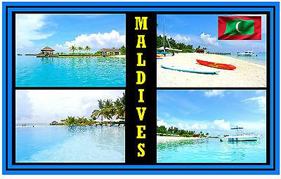 MALDIVES - SOUVENIR FRIDGE MAGNET - BRAND NEW -  NICE LITTLE GIFT