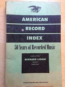 The American record index, Volume 1, Part 2