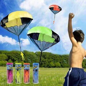 Soldat-Mode-Kinder-Sport-Mini-Wurf-Spielzeug-Hand-Fallschirm-Spielen-Draussen-GE