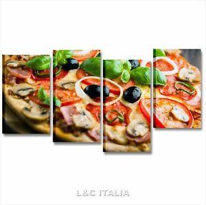 Pizza 2 quadro 152x78 quadri moderni tela arredamento for Arredamento cucina ristorante
