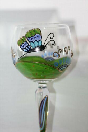 Schmetterling Weinglas Glas Nagel neu TRAUMWELTEN