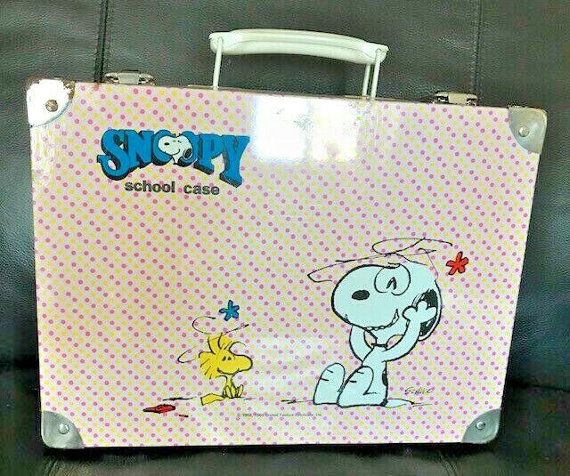 Snoopy Peanuts malette métal metal case auguri di mondadori collector vintage