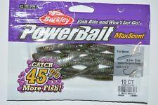 10 Count Berkley PowerBait Maxscent Flat Worm Green Pumpkin Party 4in
