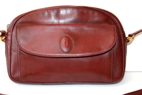 Cartier Seht Guter Zustand Vintage Leder De Umhängetasche Must Zertifikat vqgpaa