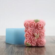 Flexible Easy Unmold Silicone Flower Leaf Natural Soap Bar Molds DIY Soap Crafts