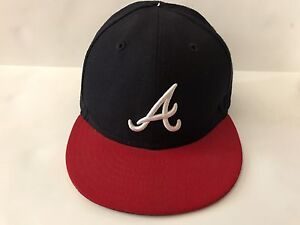 c176db16 Details about 59FIfty Atlanta Braves Fitted Baseball Cap; Size 6 5/8, Kids