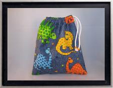 Gymnastics Leotard Grip Bags / Denim Dinosaurs Gymnast Birthday Goody Bag