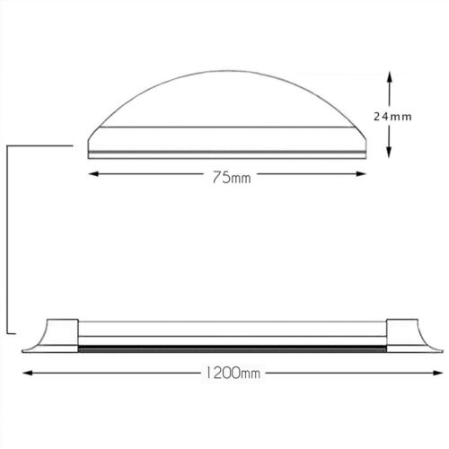 CEILING SURFACE MOUNTED 20 X36W 1200mm 3420Lm SLIM LED BATTEN LINEAR TUBE LIGHT