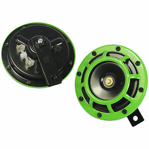 2pcs-Dual-Tone-Green-Grille-139DB-Mount-Loud-Car-Speakers-Horns-For-Holden