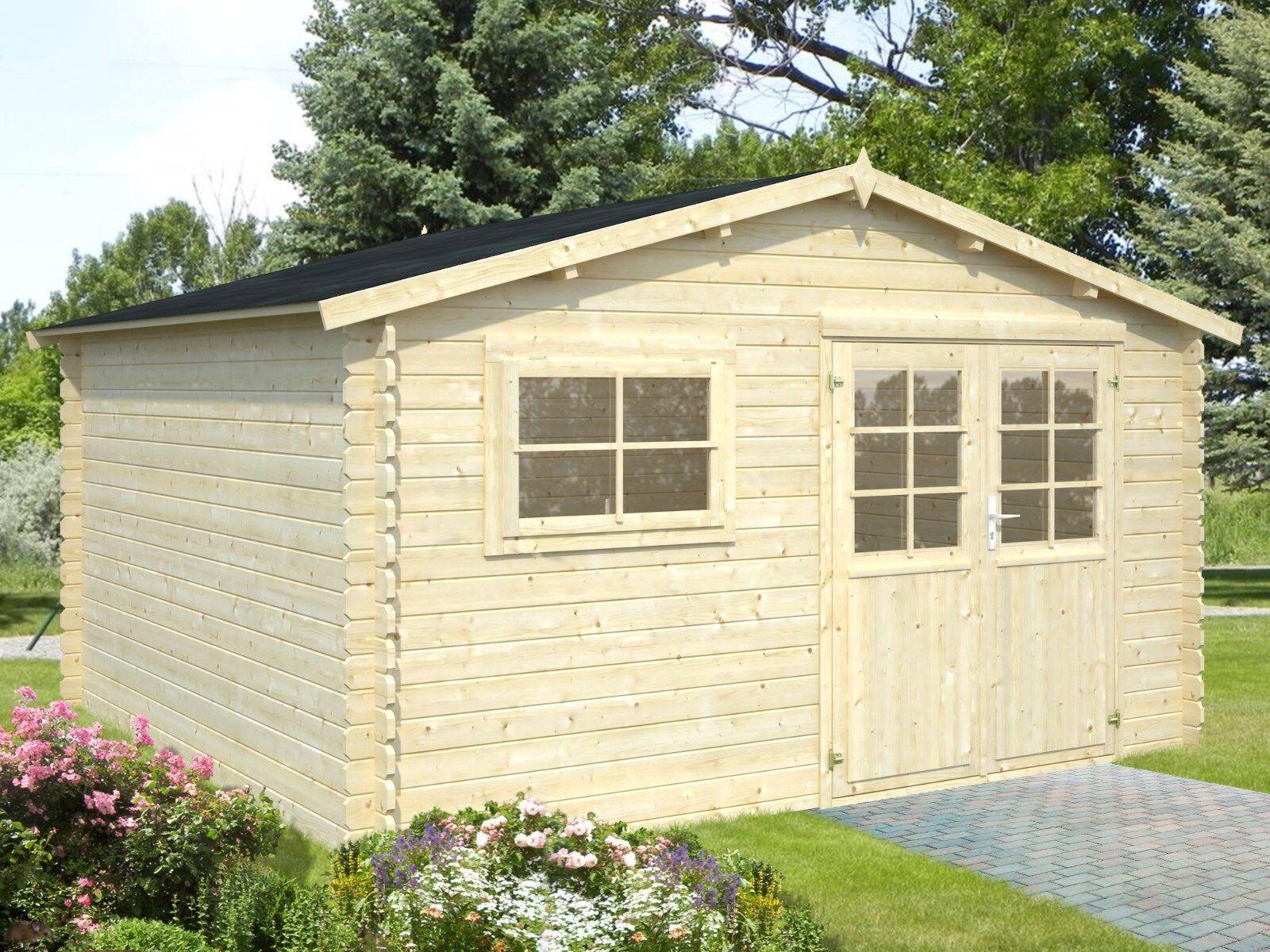 28mm gartenhaus karlsruhe 400x400 cm ger tehaus holz for Fenster 400x400