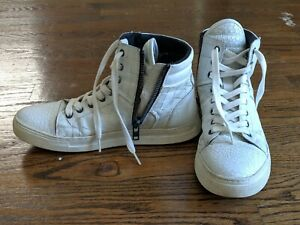 Kenneth-Cole-High-Top-White-Sneaker-for-Men-Sz-7-5
