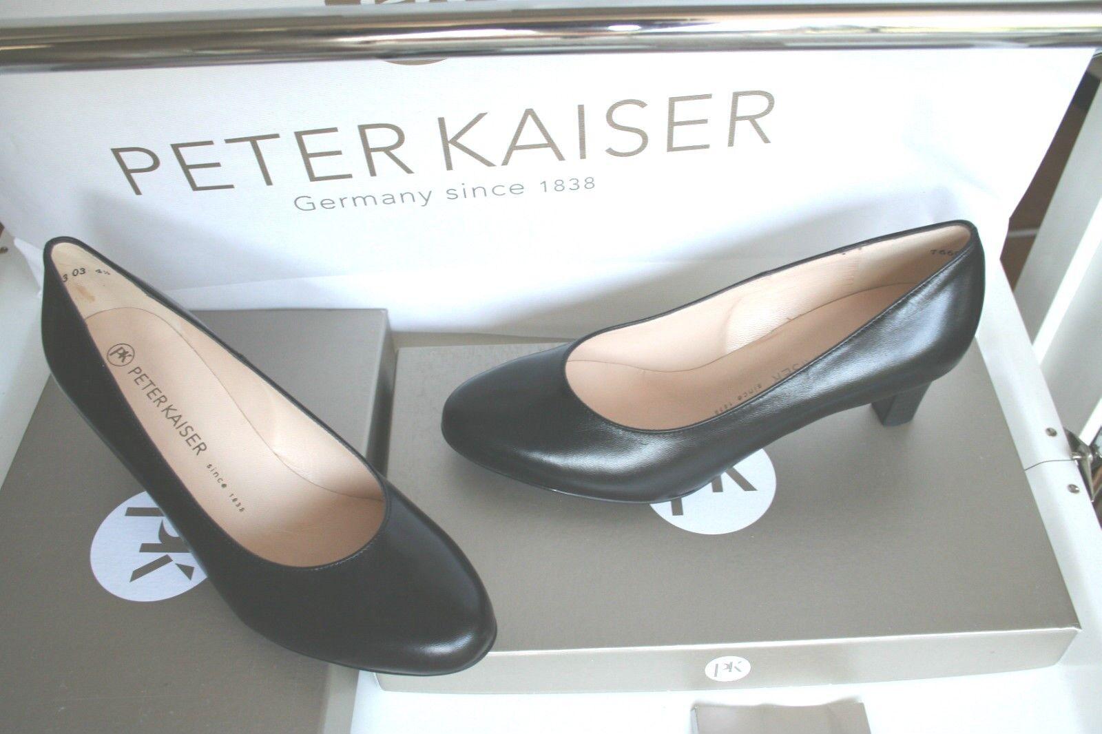 PETER KAISER  CLASSIC -Pumps  Neu schwarz  feines echtes Leder Gr 4 1/2