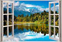 Huge 3D Window view Exotic Mountain Wall Sticker Mural Art Decal Wallpaper S10