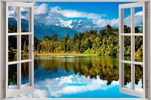 Huge-3D-Window-view-Exotic-Mountain-Wall-Sticker-Mural-Art-Decal-Wallpaper-S10