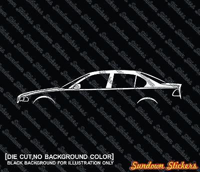 2X Car silhouette stickers for Audi 80 B3 4-door sedan 1986–1991