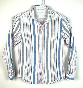 Tommy-Bahama-Button-Up-Linen-Shirt-Men-039-s-Size-Small