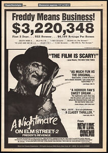 A-NIGHTMARE-ON-ELM-STREET-2-Freddy-039-s-Revenge-Orig-1985-Trade-AD-promo-poster