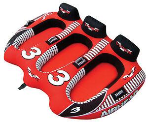 AIRHEAD-AHVI-F3-Viper-3-Triple-Rider-Cockpit-Inflatable-Towable-Lake-Water-Tube