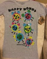 Junior/women's David & Goliath Happy Hours T-shirt Size Medium