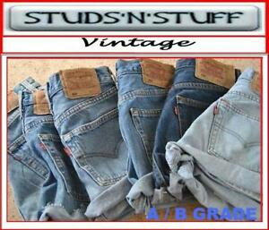 Vintage-Womens-Levis-Denim-High-amp-Mid-Waist-cut-off-Shorts-Hotpants-4-6-8-10