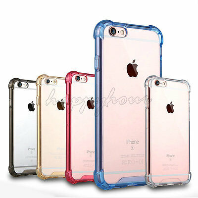 Hybrid Shockproof Rubber TPU Clear Gel Phone Case Cover For iPhone 7 6 6S 5S/5