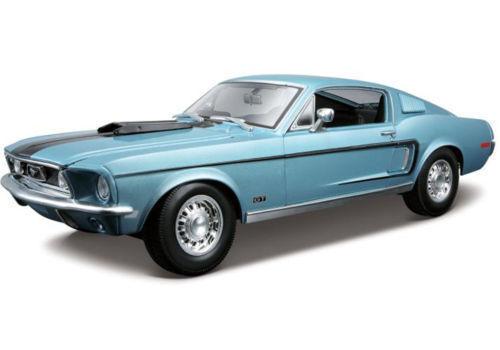 1 18 Maisto Ford Mustang Cobra Jet 1968 - bluee -