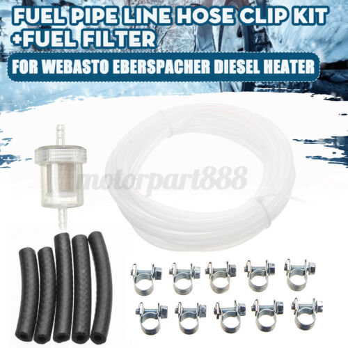 Air Inline Fuel Line Pipe Hose Clip Filter Set For Eberspacher Diesel Heater